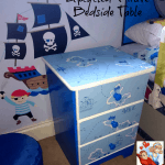 How to make: Upcycled Bedside Table – Pirate Themed