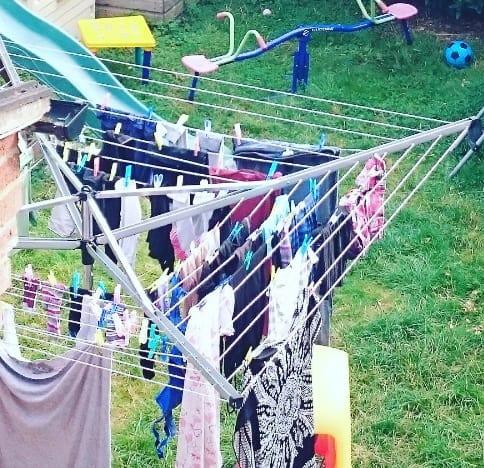 essential 50 metre rotary washing line