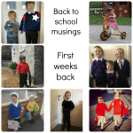 Initial thoughts on back to school – musings from parents in the first few weeks