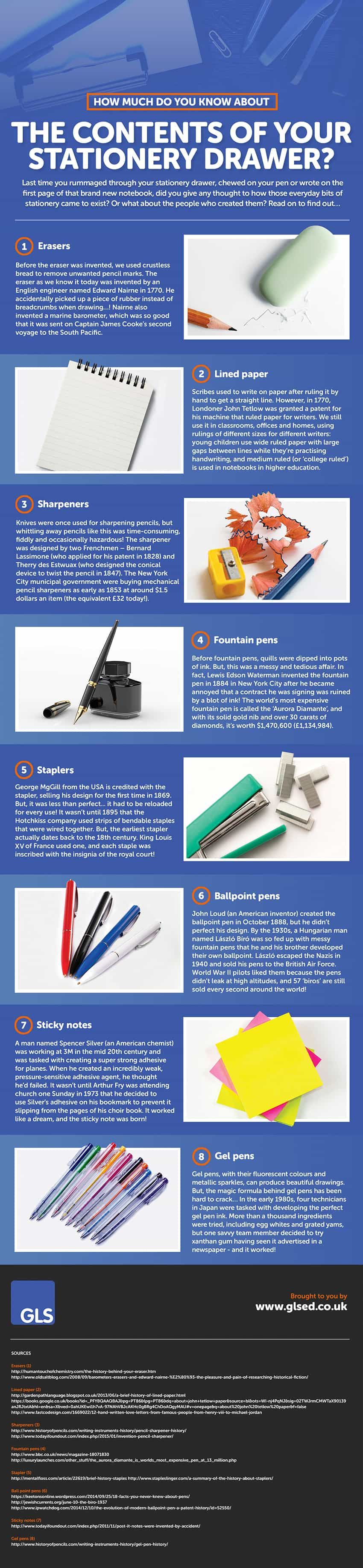 infograpic stationery