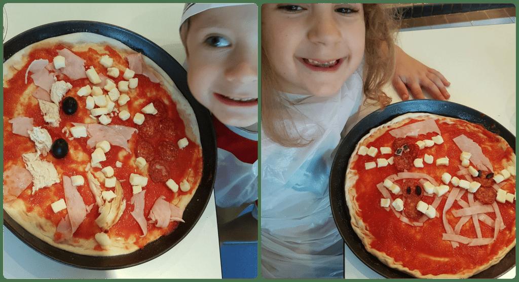 Pizza making at pizza express