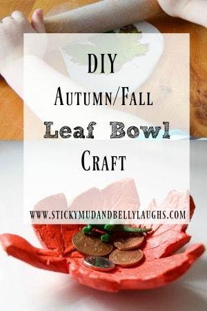 Fall leaf bowl craft