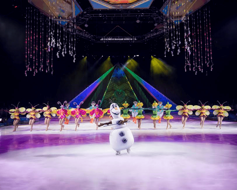 frozen on ice at the O2