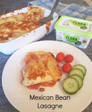 Mexican Bean Lasagne - dairy free
