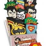 Super Hero biscuits from Biscuiteers