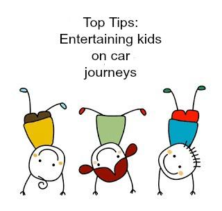 Entertaining kids on car journeys