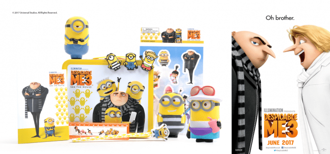 Win a Despicable Me 3 official merchandise pack