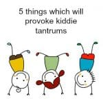 5 things which will provoke kiddie tantrums