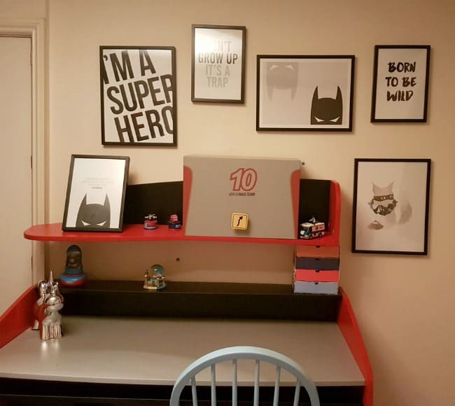 super hero photo wall