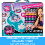Cool Maker Kumikreator Friendship Bracelet Maker Review + Giveaway