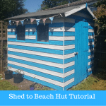 Turning our battered old shed into a Beach Hut with Valspar