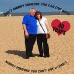 Ruby Wedding Anniversay – Congratulations Mum & Dad