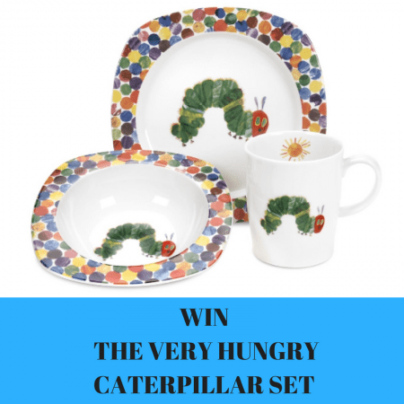 win a Hungry Caterpillar 3 piece dinner set