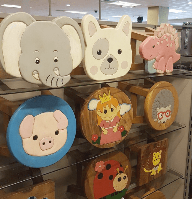 Cute animals stools in Hobbycraft