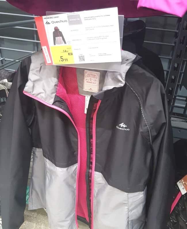 Waterproof jackets from Decathlon