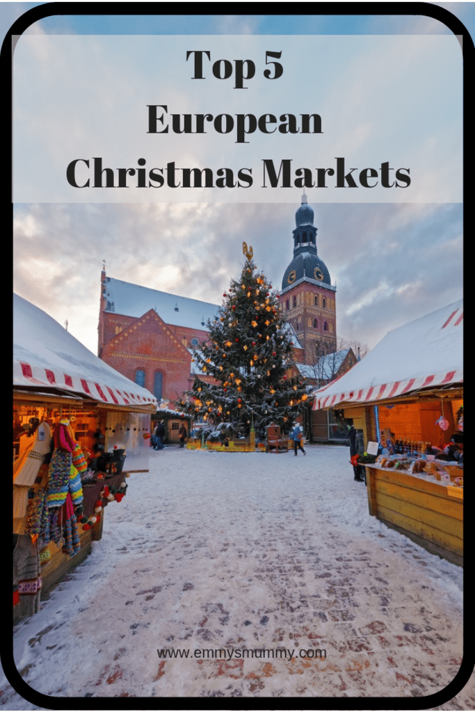 Christmas tree in Christmas market, Top 5 European Christmas Markets to visit Emmy's Mummy