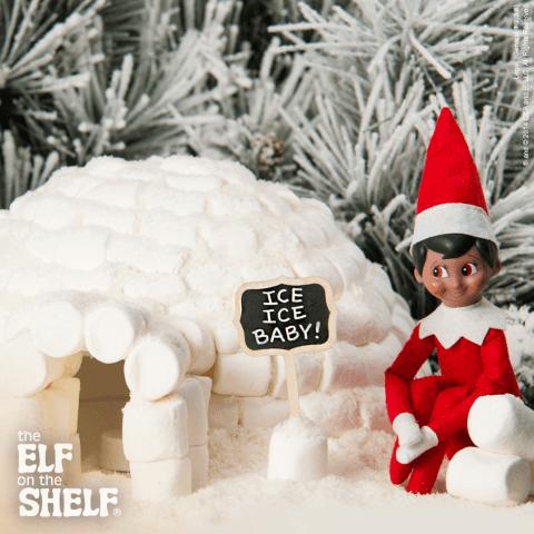 elf igloo - elf on a shelf ideas